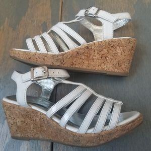 5/$20 Nina kids size 13 white sandal wedge heel